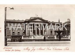LIVERPOOL WALKER ART GALLERY OLD B/W  POSTCARD  LANCASHIRE - Liverpool