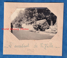 Photo Ancienne Snapshot - VIZILLE ( Isère ) - Déraillement D'un Train - 1923 - Wagon Accident Chemin De Fer Bahn - Treni