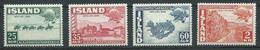 Islande YT N°220/223 Union Postale Universelle Neuf/charnière * - Ongebruikt
