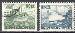 Poland 1953 - Merchant Navy - Mi.807-08 - Used - Gebruikt