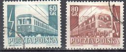 Poland 1954 - Railway Electrification - Mi.837-38 - Used - Used Stamps