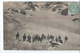 Catastrophe Du Col De La Pare - Avalanche - Découverte De Cadavres Par Les Pompiers - Chasseurs Alpins - Other Municipalities