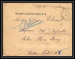 113340 Lettre Bouches Du Rhone Guerre 1914/1918 Velaux Secteur Postal N°2 - Oorlog 1914-18