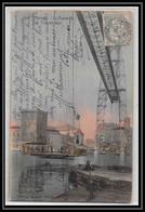 Lettre-111324 Bouches Du Rhone N°111 Blanc X2 10c Éguilles Pour Marseille Carte Postale Passerelle Du Transbordeur 1906 - 1877-1920: Semi-Moderne