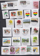 Denmark,collection Of Modern Stamps, Very Good Postmarks, On Paper - Collections