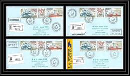1158 Lot De 4 Lettres Avec Cad Différents Taaf Terres Australes Antarctic Covers 113 A 190 Recommandé Astrolabe - Brieven En Documenten