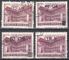 Poland 1956 - Courtyard, Wawel Castle - Mi.970-73 - Used - Gebruikt