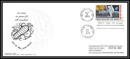 3048 Espace (space) Lettre (cover) USA Apollo 11 Washington Moon Landing Ifirst Man On The Moon 9/9/1969 20/10/1969 - Estados Unidos