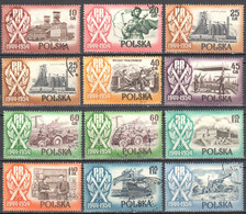 Poland 1954 -  Polish People's Republic - 10th Anniv. - Mi.877,78,889-96,A890,A892 - Used - Usati