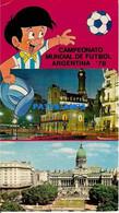 161126 ARGENTINA BUENOS AIRES CABILDO Y PLAZA  & SOCCER WORLD CUP FUTBOL 1978 POSTAL POSTCARD - Argentina