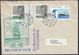 Färöer - Faeroe Islands TORSHAVN SSS Gorch Fock Zu Besuch 1982   (65099 - Barcos