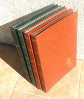 4 Classeurs 32 Pages Grand Format - Fond Noir - Doubles Intercalaires Cristal - Bon état. - Large Format, Black Pages