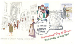 (QQ 13) International Nurses Day - 12 May 2021 (on Overprinyed 1985 Australian Cover) 1 Of 4 Available - Medicine