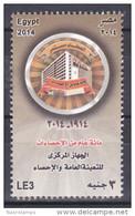 Egypt - 2014 - ( 100th Anniv. Of Statistics ) - MNH (**) - Nuovi