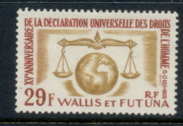 Wallis & Futuna 1963 Declaration Of Human Rights MLH - Unused Stamps