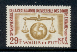 Wallis & Futuna 1963 Human Rights MUH - Unused Stamps