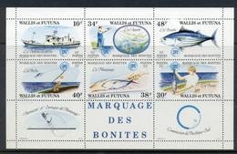 Wallis & Futuna 1979 Tuna Fishing, Tagging MS MUH - Unused Stamps