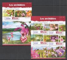TG114 2015 TOGO TOGOLAISE FLORA FLOWERS ORCHIDS LES ORCHIDEES KB+BL MNH - Orchids