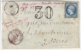 Lettre TAXE POUR TIMBRE AYANT DEJA SERVI , Rochechouart Haute Vienne , TTB - 1877-1920: Période Semi Moderne
