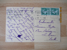 Lot  De 2 Flamme Krag Visitez Rouen Ville Musee Lettre - 1921-1960: Modern Period