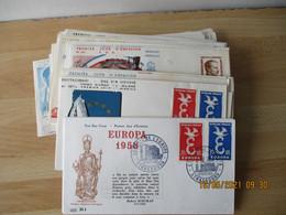 Lot De 70 Annees De 1952 A1959 Fdc Enveloppe 1 Er Jour Tout En Photo - 1950-1959