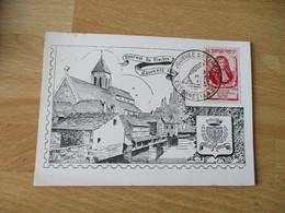 Essonnes  Cm Carte Maximum Louvois Journee Du Timbre - 1940-49