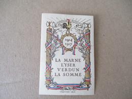 Guerre 14.18  1914.1917 La Marne L Yser Verdun Somme Vignette Timbre Erinnophilie - Militärmarken