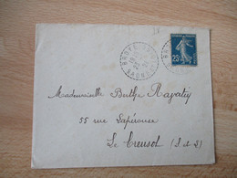 Broye Saone Et Loire Facteur Boitier Bureau Distribution - 1921-1960: Modern Period
