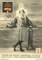 Cpsm 85 LES SABLES D'OLONNE. Une Sablaise Publicité Galettes Fines Saint-Sauveur - Sables D'Olonne
