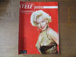 TELE VISION MAGAZINE DU 6 AU 12 OCTOBRE 1957 MARILYN MONROE,JEAN NOHAIN,LES BRUITS DU SALON,VU SUR NOS ECRANS,ANDRE GILL - Televisión