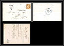 39113 Lac Lambesc N°13 T2 Pc 1626 Pour Arles Hospices 1861 Bouches Du Rhone Lettre Cover - 1849-1876: Periodo Classico