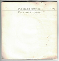 2 DISQUES  PUBLICITAIRE RTL PANORAMA MONDIAL DOCUMENTS SONORES 1971 POMPIDOU IRA ROI HASSAM II IGOR STRAVINSKY AMSTRONG - Formati Speciali
