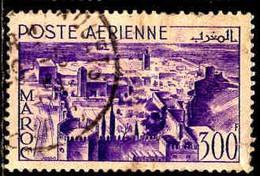 Maroc (Prot.Fr) Avion Obl Yv: 82 Mi:329 Rabat Kasbah Des Oudaîas (Déchiré) - Airmail