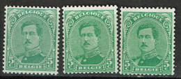 137  *  3 Nuances - 1915-1920 Albert I