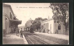 CPA Bandol-sur-Mer, La Gare, Train Im La Gare - Bandol