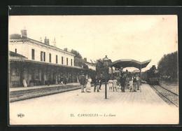 CPA Carnoules, La Gare, Menschen Am Bahnsteig - Ohne Zuordnung