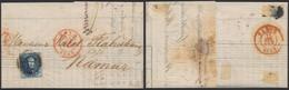 """Médaillon - N°7 Margé Sur LAC """"Guillochins Fils Ainé & Cie"""" Obl P83 çàd Mons (1855) > Namur - 1851-1857 Médaillons (6/8)"""