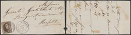 Médaillon Dentelé - N°14 Sur Fragment Obl D6 çàd Bilsen (1865) > Hasselt / COBA : 40 - 1863-1864 Medaillons (13/16)
