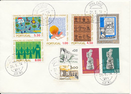 Portugal Cover Vera Cruz 24-5-1974 With A Lot Of Topic Stamps But No Address - Covers & Documents