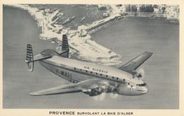 CPA - Bréguet 2 Ponts ( Dérive Modifiée ) - Compagnie Air Algérie - Survolant La Baie D'Alger - 1946-....: Era Moderna