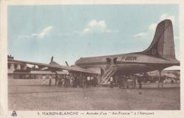 CPA - Douglas DC 4 - Compagnie Air France - Aéroport D'Alger Maison Blanche - 1946-....: Era Moderna