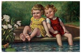 Artist Signed Wally Fialkowska - Frog - Latvian PC 1930s - Fialkowska, Wally