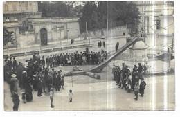 Montpellier Carte Photo La Croix Du Peyrou à Terre Le 24 Septembre 1920 Suite D' Un Violent Orage - Montpellier