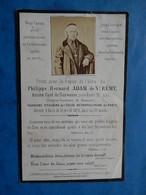 GENEALOGIE FAIRE PART DECES  RELIGION RELIGIEUX ADAM DE SAINT REMY CURE SURESNE CHANOINE BEAUVAIS  1872 - Avvisi Di Necrologio