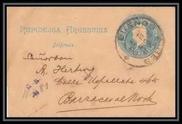 4143/ Argentine (Argentina) Entier Stationery Bande Pour Journal Newspapers Wrapper N°19 1896 - Ganzsachen