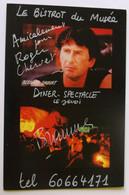 Bernard SAUVAT - Dédicace - Hand Signed - Autographe Authentique - Zangers En Musicus