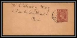 1768/ Natal Afrique Du Sud Entier Stationery N°1 Victoria Bande Pour Journal Newspapers Wrapper Pour Parisc - Natal (1857-1909)