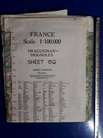 CARTE GEOGRAPHIQUE DRAGUIGNAN BRIGNOLES FIST EDITION - Mapas Geográficas