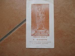 Immagine Sacra Devotion Image Prodigiosa Effigie S.GIUSEPPE Ex Arciconfraternita Di S.Giuseppe Maggiore - Devotion Images