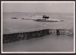 Photo Originale Honfleur - Travaux - Draguage Chenal De Honfleur Pose De Matelas De Fascines Digue Est - 26 Juillet 1948 - Luoghi